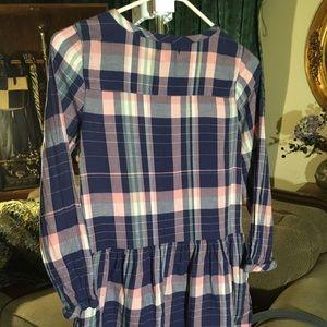 Gap Kids Blue Pink Yellow Drop Waist Dress